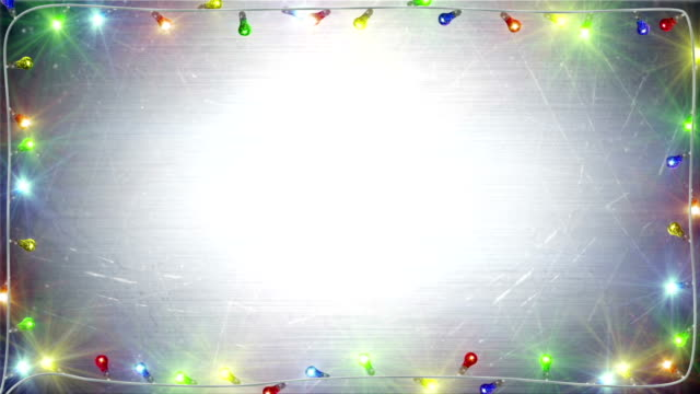 christmas lights frame loopable background video