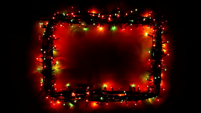 Christmas lights frame video