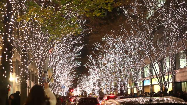 クリスマスの夜景 - クリスマス点の映像素材/bロール
