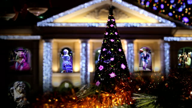 Christmas Lights Christmas House marionette stock videos & royalty-free footage