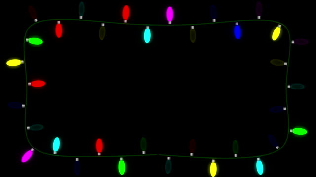 Christmas lights with alpha matte video