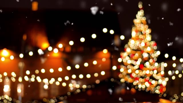 christmas market at old town in tallinn - vídeo