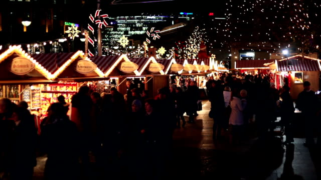 Christmas Market by night video