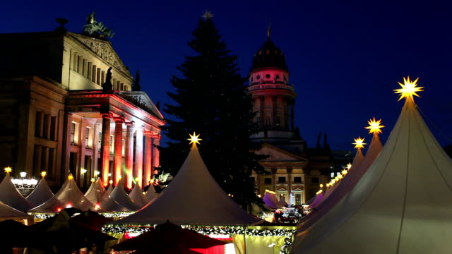 Christmas market in Berlin video