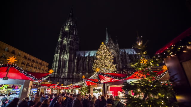 Christmas Market in Cologne, Germany video