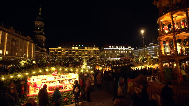 weihnachtsmarkt in dresden - weihnachtsmarkt stock-videos und b-roll-filmmaterial