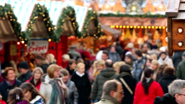 Christmas market in Germany video