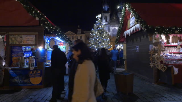 vidéos et rushes de marché de noel à prague - prague