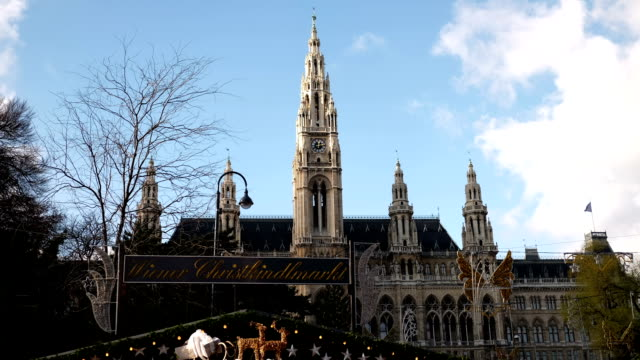 Christmas Market Vienna Town Hall - Time Lapse video