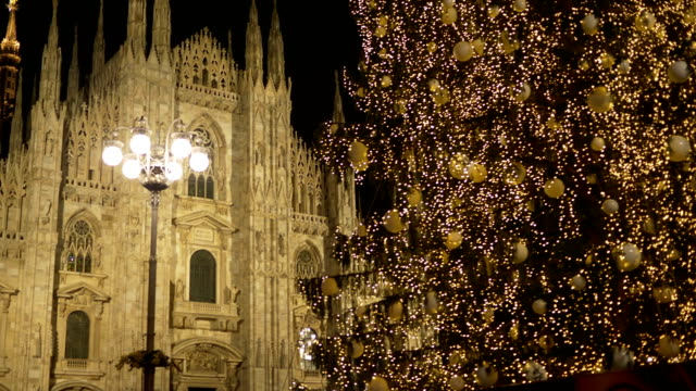 Christmas Milan Cathedral Tree - video