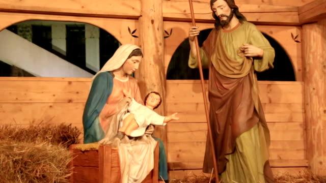 Christmas Nativity scene video