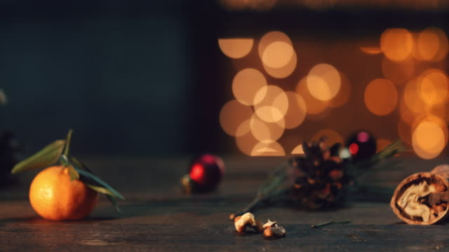 christmas natural decoration - treedeo christmas stock videos & royalty-free footage