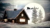istock Christmas Night | Flying Santa Claus 1181461731