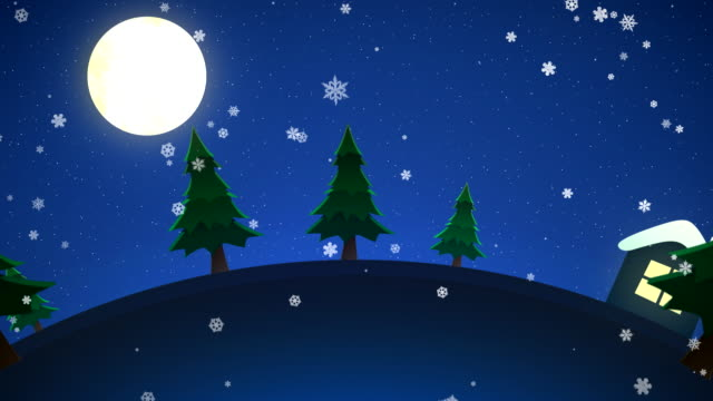 stockvideo's en b-roll-footage met kerstnacht lus - christmas cabin