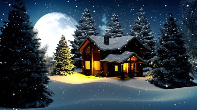 stockvideo's en b-roll-footage met christmas night with santa claus - rendier