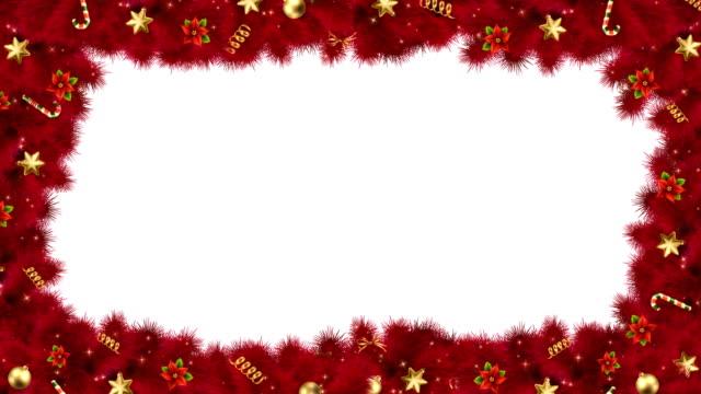 köknar dalları ile noel veya yeni yıl basamaklı çerçeve - mountain top stok videoları ve detay görüntü çekimi