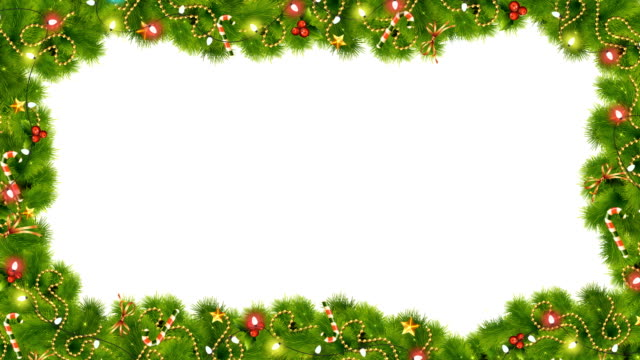 christmas or new year cascade magic frame - cena di natale video stock e b–roll