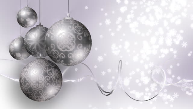 Christmas or Winter Wedding Background. Silver. Loopable video