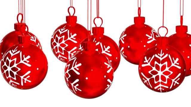 Christmas Ornaments background. Loopable video
