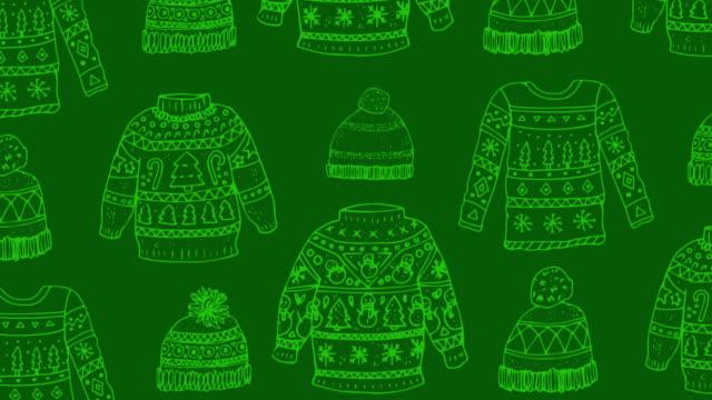 クリスマスパターン - サンタの帽子点の映像素材/bロール