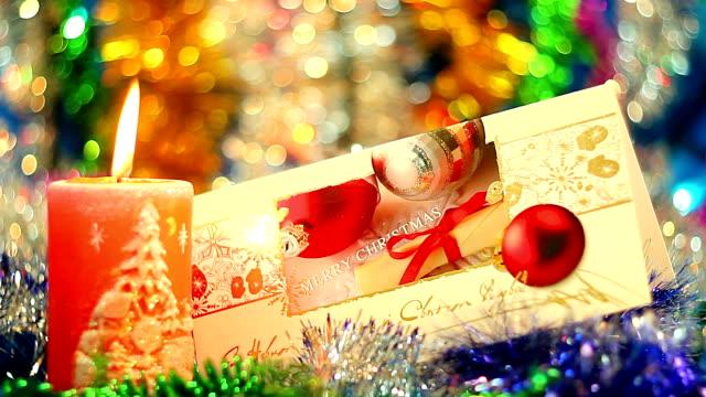 Christmas postcard and candle video