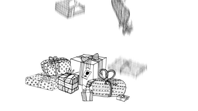 vídeos de stock e filmes b-roll de prenda de natal - christmas card