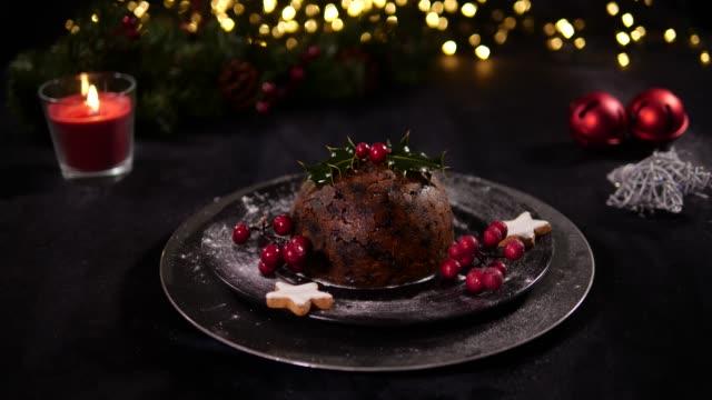 4K DOLLY: Christmas Pudding Dessert