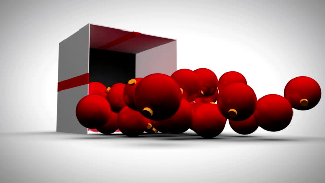Weihnachten Rote Bälle animation mit Bildschirme – Video