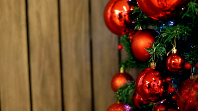 Christmas red candle decoration video