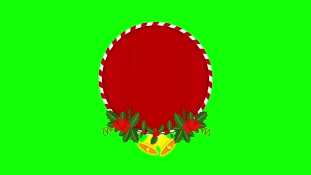 christmas sale tag with holly berry branch. - ghirlanda decorazione video stock e b–roll
