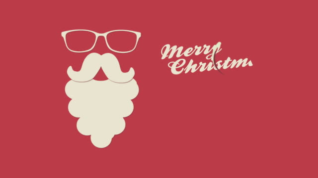 Christmas Santa background. video