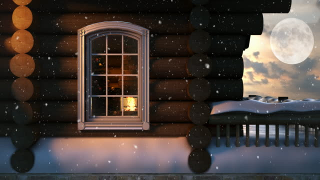 Christmas Scene Behind the Window  4K | Loopable video