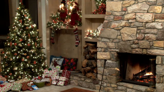 christmas scene by the fire video