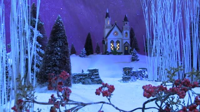 Christmas Scene - Church in Woods