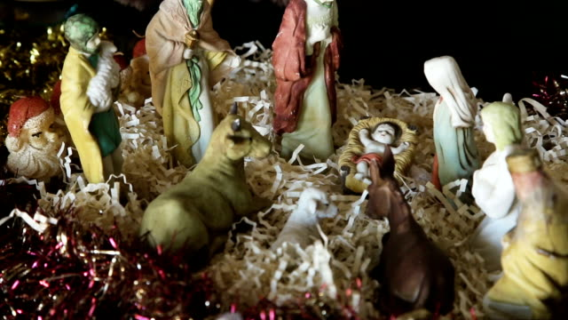 Christmas scene of Christ's life video