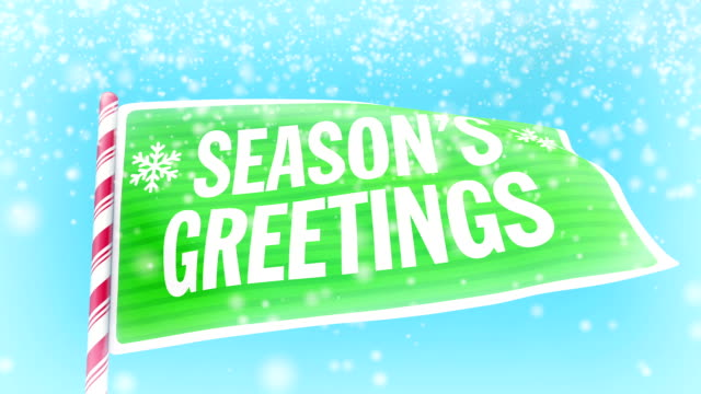 Christmas Season's Greetings animation video