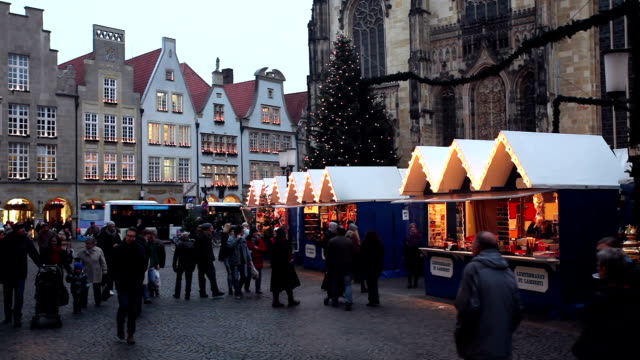 Christmas Shopping in Münster, Germany video