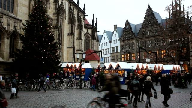 Weihnachts-Shopping in Münster, Deutschland – Video