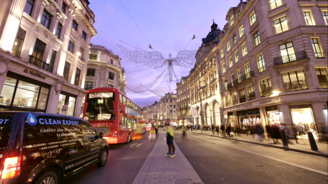 4k christmas & shopping on oxford street, london - london fashion stock videos and b-roll footage