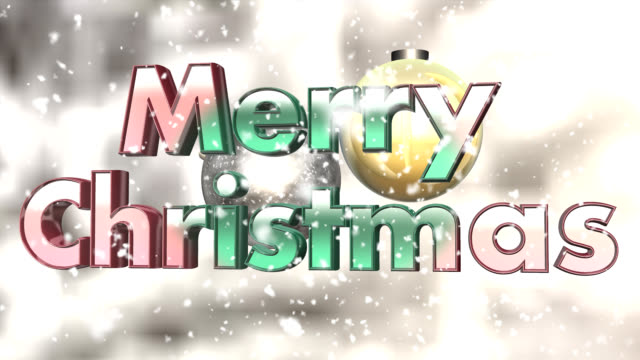 Christmas sign - seamless loop video