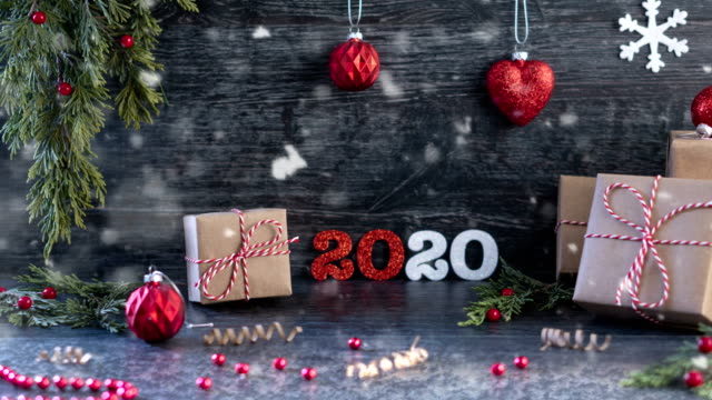 4K Christmas Snow Consept. 2020 - Loopable