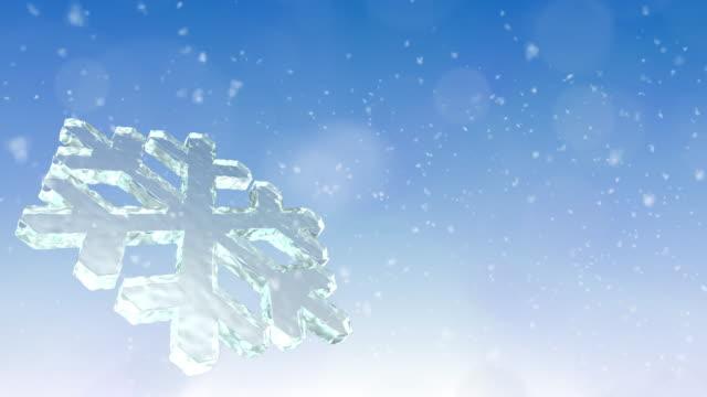 Christmas Snow Flake Background video