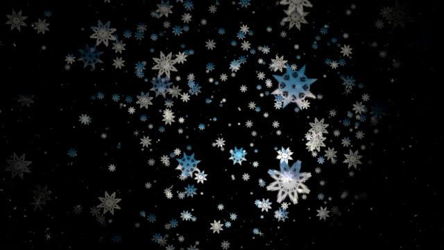 Christmas Snow Flakes Blue video