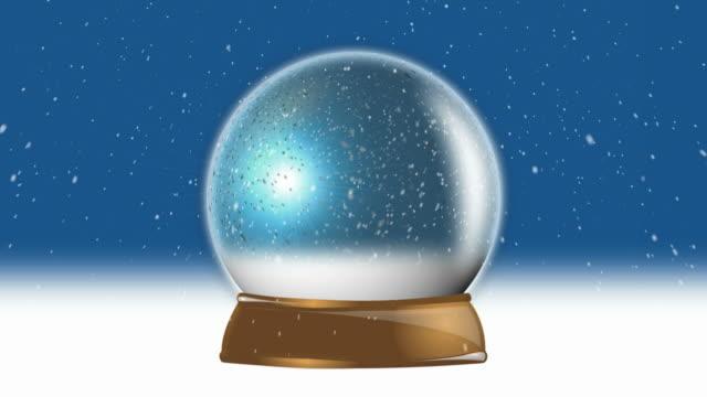 christmas snow globe loop - snöflinga bildbanksvideor och videomaterial från bakom kulisserna