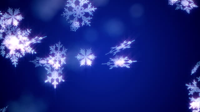 Christmas Snowflake background Blue Loop video
