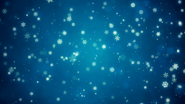 Video Christmas Snowflake Background | Loopable