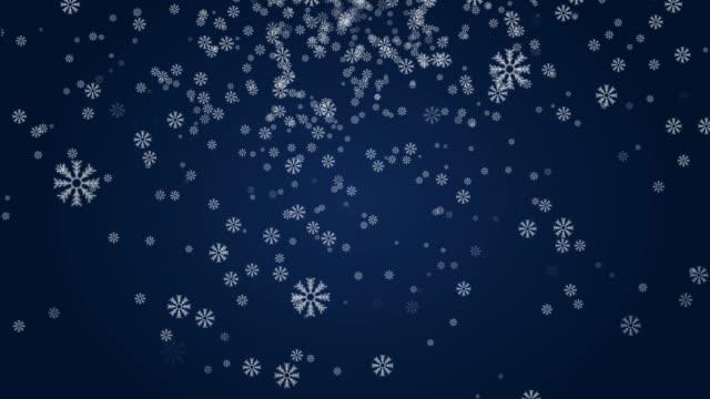 vídeos de stock e filmes b-roll de christmas snowflake background - christmas card