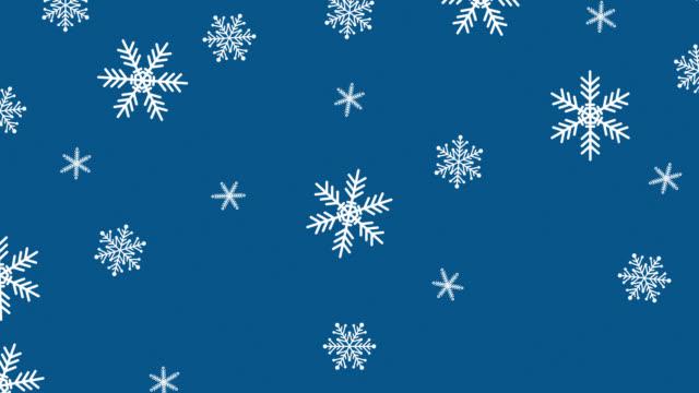 noel kar taneleri animasyon - snowflakes stok videoları ve detay görüntü çekimi