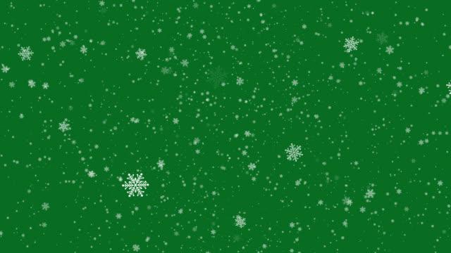 animazione fiocchi di neve di natale - nevicata video stock e b–roll