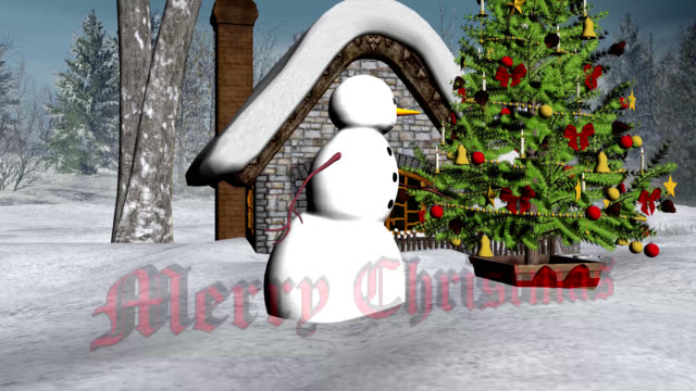 Christmas Snowman in a Winter Wonderland video